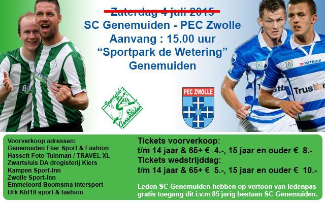 SC Genemuiden - PEC Zwolle
