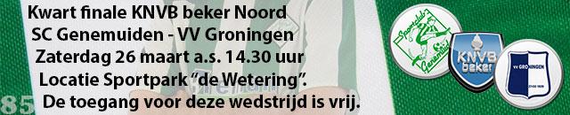 Achtste finale KNVB beker district Noord