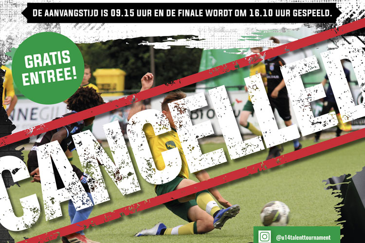 Annulering Edel Grass U14 Talent Tournament 2020 en nieuwe datum 2021
